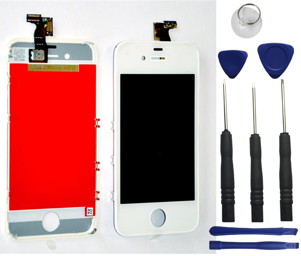 iphone 4s lcd screen white