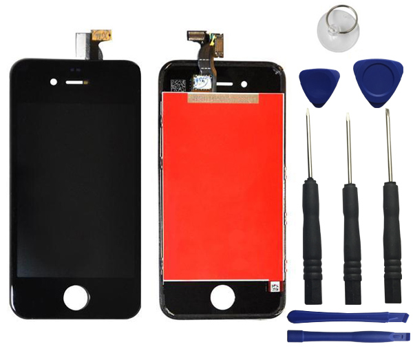 iphone 4s lcd screen black